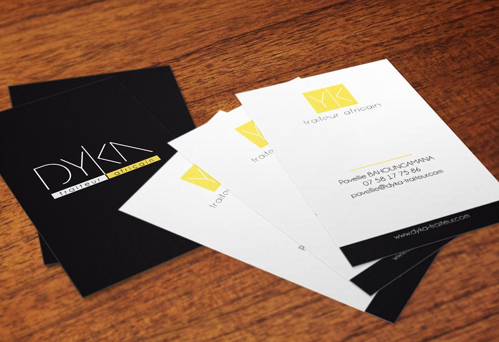 DYKA TRAITEUR Produit Logo Carte De Visite